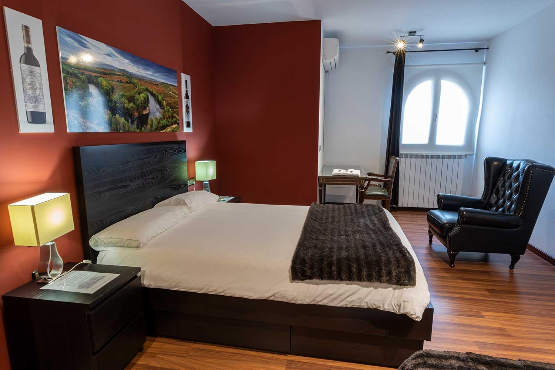 Habitación en el alojamiento de Bodegas Valdelana