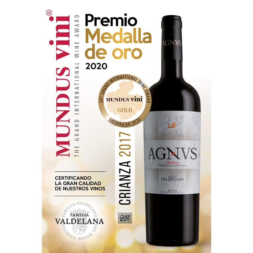 Agvns Crianza obtiene la medalla de oro en el concurso Mundus Vini 2020