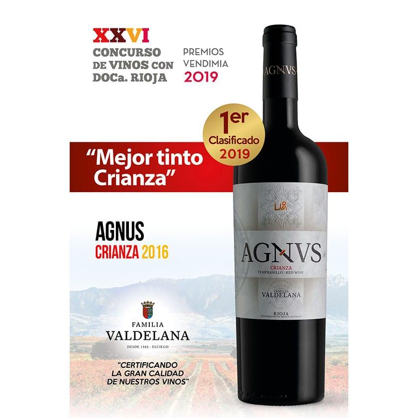 Agvns Crianza considerado el mejor crianza de Rioja en la Fiesta de la Vendimia de Rioja Alavesa 2019