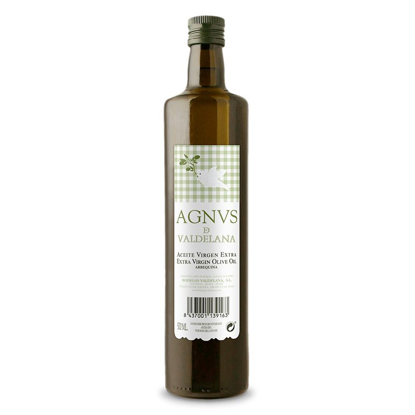 El aceite de Oliva Virgen Extra de la marca Agnvs está elaborado únicamente con aceitunas de la variedad Arbequina. Un aceite de oliva muy sabroso y de gran intensidad aromática.