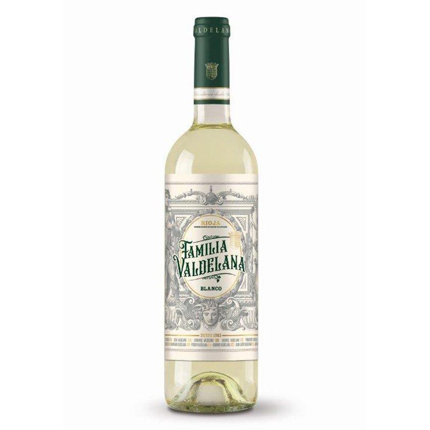Vino blanco Rioja de la marca Familia Valdelana elaborado con uva 100% malvasía. Un vino muy intenso, fresco y afrutado, ideal para combinar con arroces, pastas, carnes blancas y pescados.