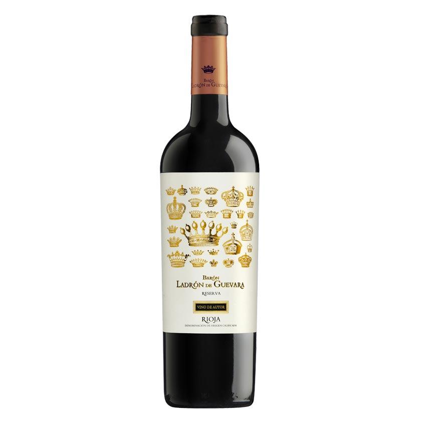 Vino reserva de autor de la marca Barón Ladrón de Guevara se compone de un 95% de uva tempranillo y un 5% de graciano. Un vino Rioja delicado y equilibrado, perfecto para tapas, carnes, legumbres y postres. Cómpralo online.