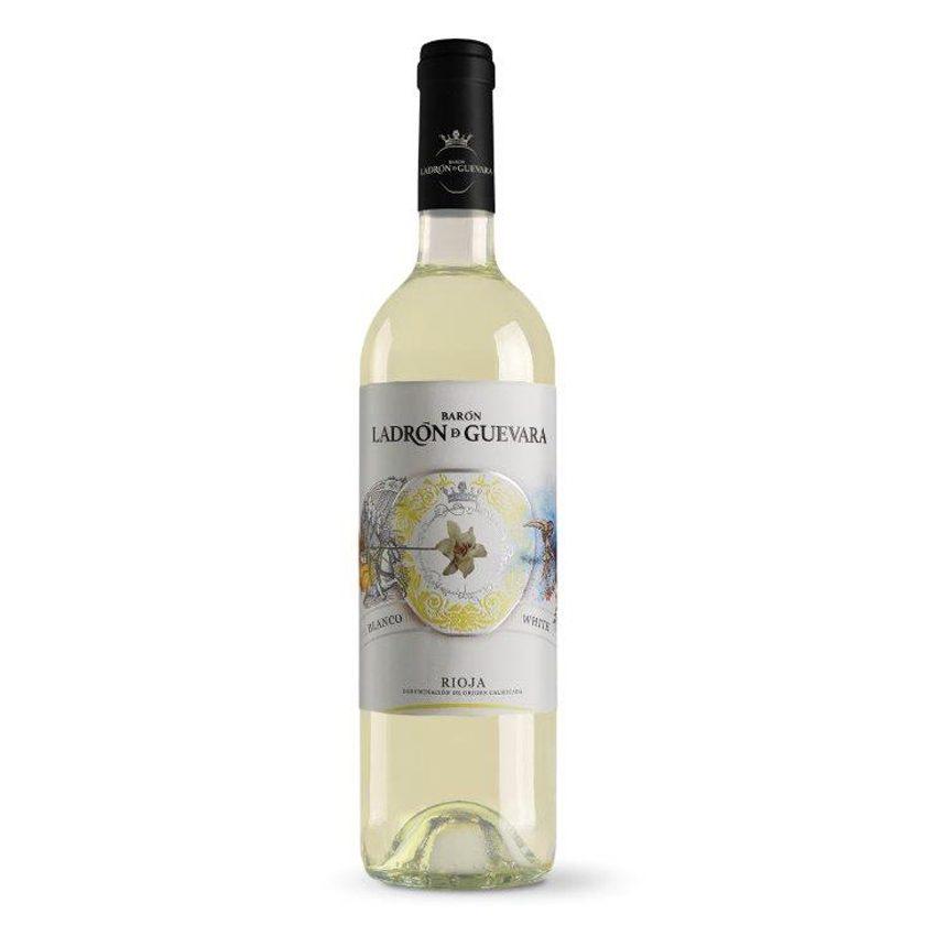 Este vino blanco de la marca Barón Ladrón de Guevara es muy intenso, fresco y afrutado, ideal para combinar con arroces, pastas, carnes blancas y pescados.