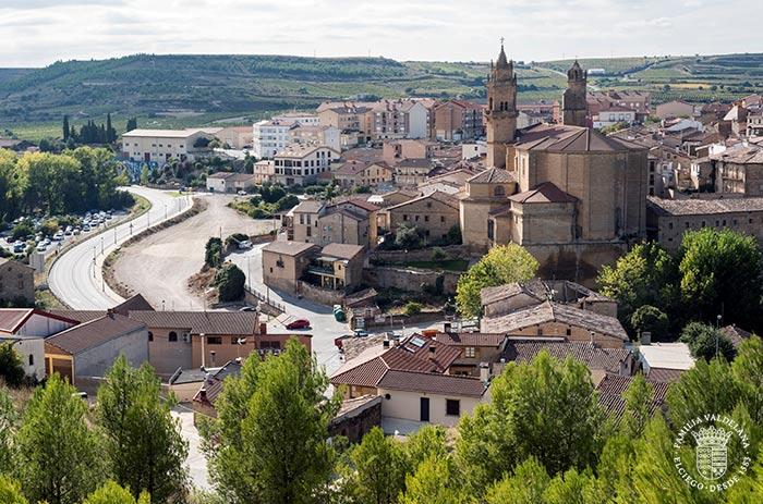 Vista de Elciego desde un mirador (Rioja Alavesa, País Vasco)