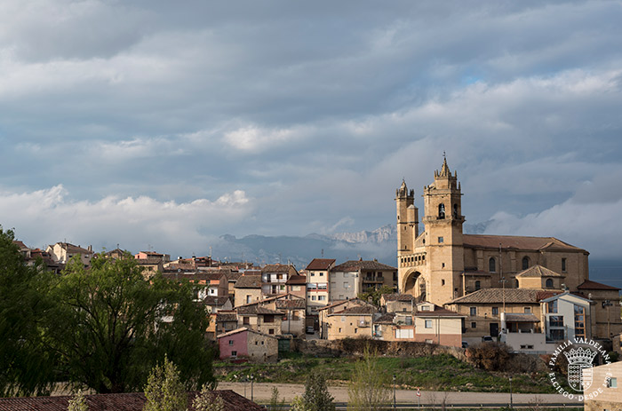 Vista de Elciego desde la bodega Marqués del Riscal (Rioja Alavesa, País Vasco)