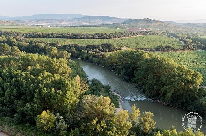 Vistas del río Ebro en su paso por Rioja Alavesa (Elciego)