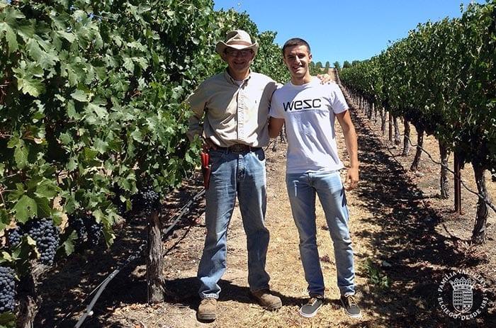 Juan Valdelana trabajando en Napa Valley (California)