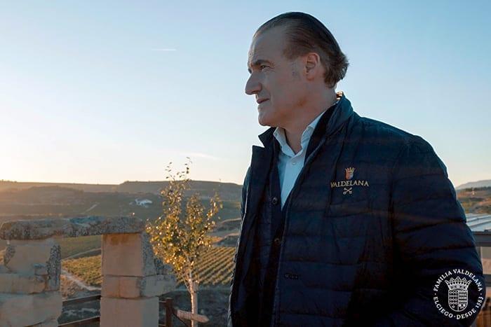Juanje Valdelana en una escena del vídeo institucional de Bodegas Valdelana