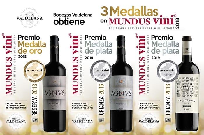 Bodegas Valdelana wins three medals in the prestigious