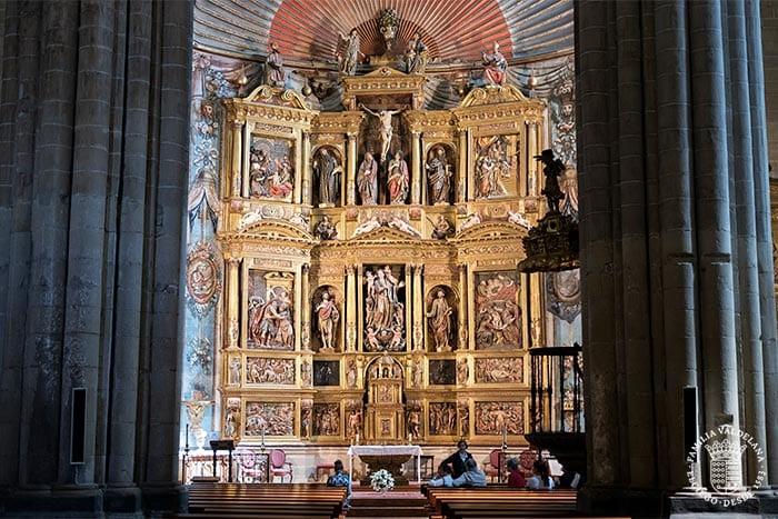 Retablo en la iglesia de Santa María de Laguardia (Rioja Alavesa, País Vasco)