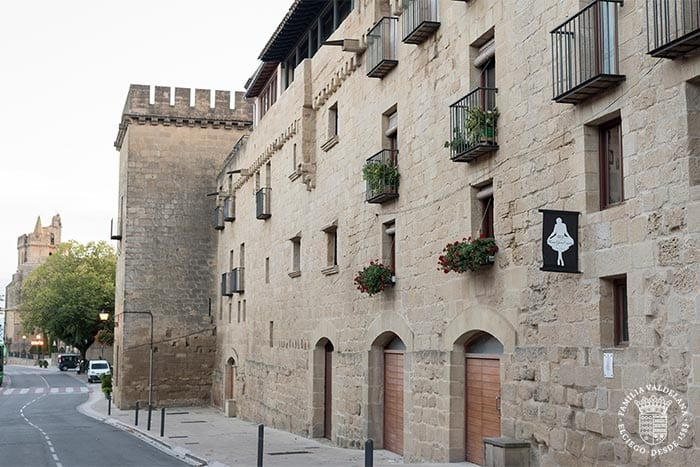 Casas amuralladas en Laguardia (Rioja Alavesa, País Vasco)