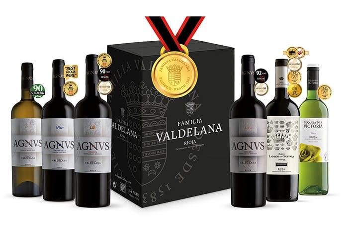 Pack de vinos premiados de Bodegas Valdelana (Rioja Alavesa)